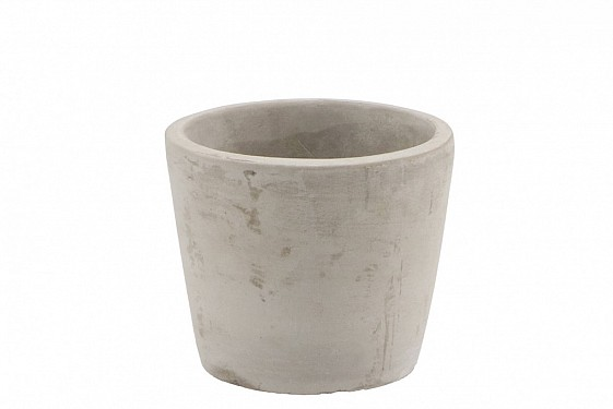 CONCRETE POT ROUND GREY 11X9CM