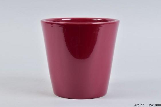 VINCI WINE RED POT CONTAINER 18X16CM