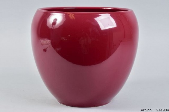 VINCI WINE RED FLOWER POT 27X24CM