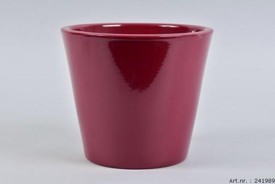 VINCI WINE RED POT CONTAINER 21X19CM