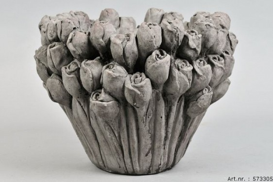 LA ROSE CONCRETE POT 28X22CM