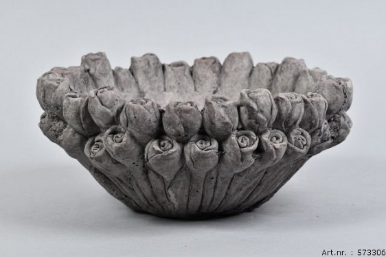 LA ROSE CONCRETE BOWL 27X13CM