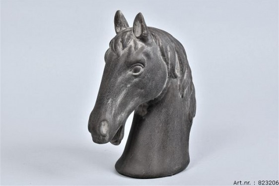 PHUKET HORSEHEAD DARK STONE 19X10X24CM