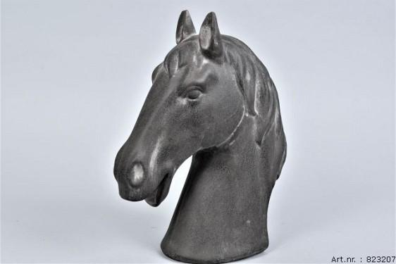 PHUKET HORSEHEAD DARK STONE 23X12X30CM