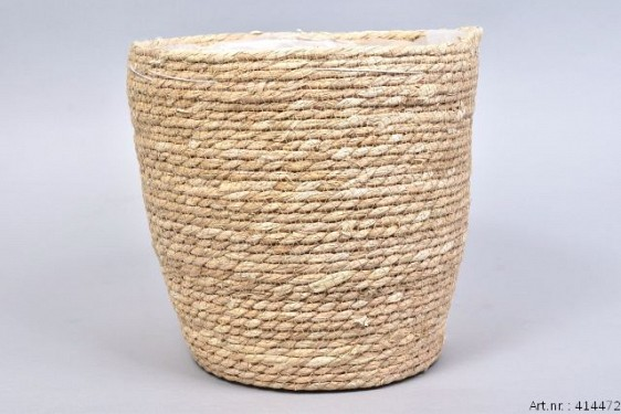 PANIER EN POT NATUREL SEA GRASS STRAW 28X28CM
