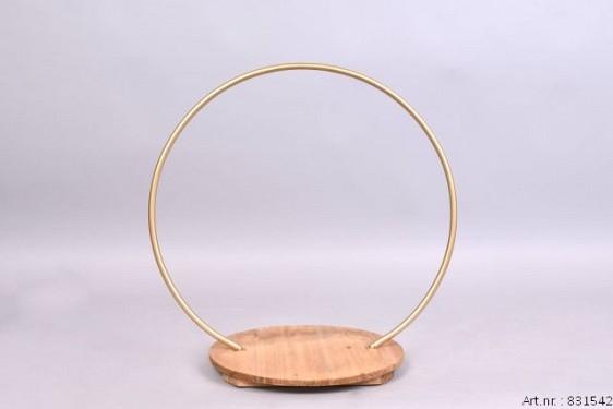 METAL CIRCLE GOLD MET PLATEAU 47CM