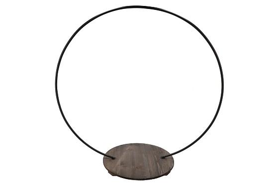 METAL CIRCLE BLACK MET PLATEAU 73X36X79CM