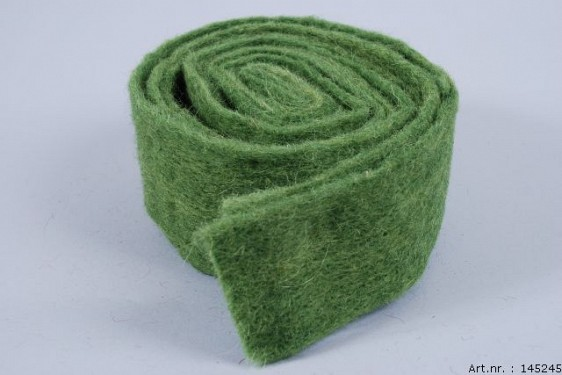 WOOL BAND MOSS GREEN 7CM X 4 METER