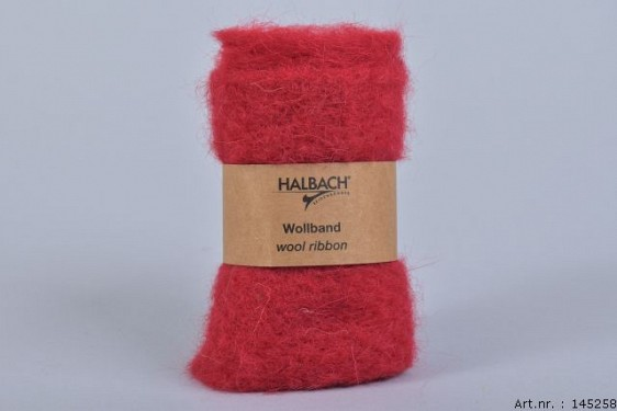 WOOL BAND WINE RED 12CM X 1 METER