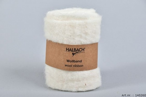 WOOL BAND CREAM 12CM X 1 METER
