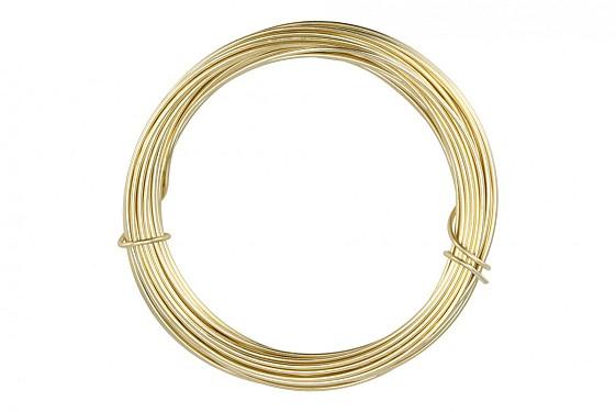 WIRE ALUMINIUM GOLD 2MM X 12 METER A 100 GRAM