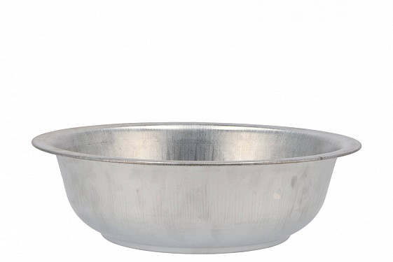ZINC BOWL NATURAL 32X10CM