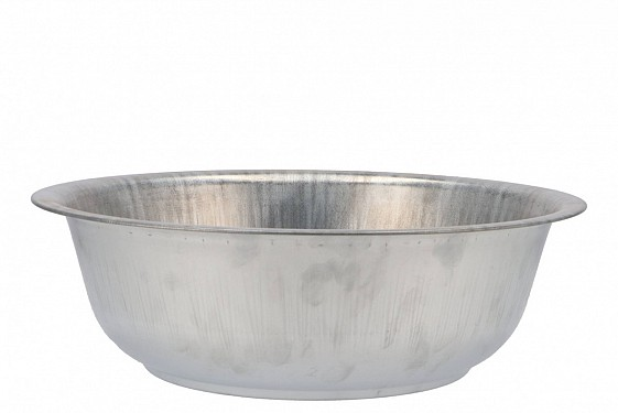 ZINC BOWL NATURAL 36X11CM