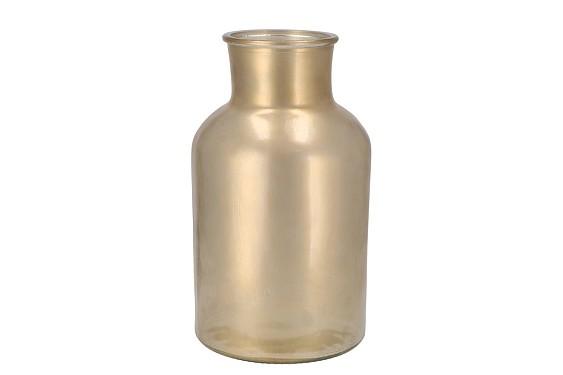 DRY GLASS GOLD MAT MILK CAN 17X30CM