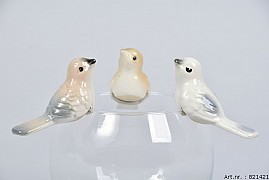 BIRD TOUSLED 7X3CM BROWN/CREAM ASSORTED A PIECE