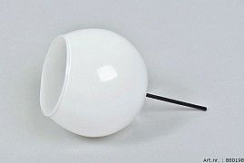 GLASS SPHERE SHADED WHITE D10CM ON PIN L16CM