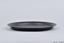 ZINC PLATE MATT BLACK 30X3CM