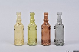 GLASS BOTTLE CLASSIC 5X17CM ASSORTED A PIECE