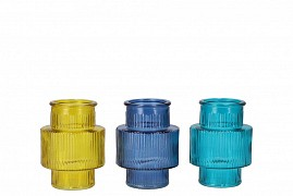 DIAMOND CLEAR GLASS BOTTLE SPHERE SHADED 8X8CM