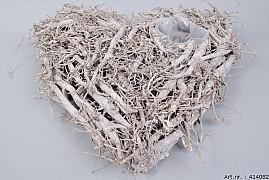 REED HEART 50X50X10CM