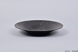 ZINC BOWL BLACK TAPERED 23X4CM