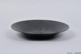 ZINC BOWL BLACK TAPERED 29X5CM