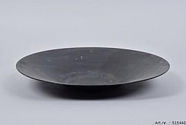ZINC BOWL BLACK TAPERED 35X5CM