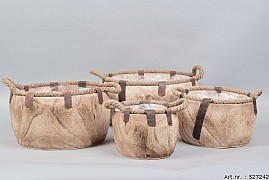 PAULOWNIA WOODEN BOWL 35X18CM 4-PIECES