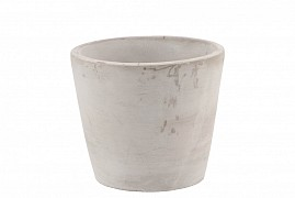 CONCRETE POT ROUND GREY 14X12CM