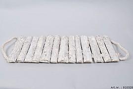 BIRCH PLATE WHITE 57X20X3CM