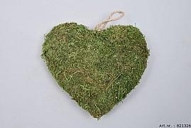 MOSS HEART GREEN 20X6CM