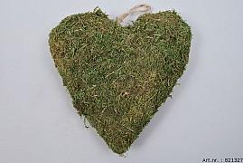 MOSS HEART GREEN 25X7CM