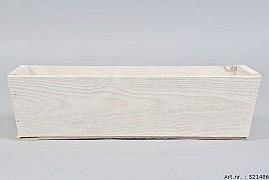 WOODEN BOX RECTANGLE WHITE 35X12X10CM