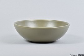 VINCI OLIVE DRAB BOWL LOW SPHERE SHADED 20X7CM