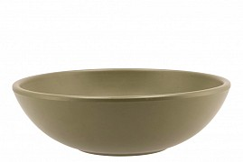 VINCI OLIVE DRAB BOWL LOW SPHERE SHADED 30X9CM
