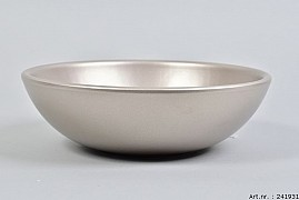 VINCI CHAMPAGNE BOWL LOW SPHERE SHADED 25X8CM