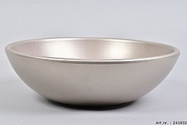 VINCI CHAMPAGNE BOWL LOW SPHERE SHADED 30X9CM