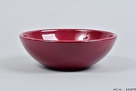 VINCI WINE RED BOWL LOW SPHERE SHADED 20X7CM