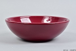 VINCI WINE RED BOWL LOW SPHERE SHADED 25X8CM