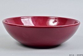 VINCI WINE RED BOWL LOW SPHERE SHADED 30X9CM