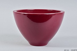 VINCI WINE RED BOWL SPHERE SHADED 23X15CM