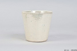 ALICANTE CREAM PEARL POT 15X14CM