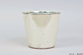 ALICANTE CREAM PEARL POT 17X16CM