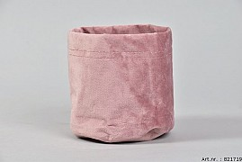 VELOURS PLANTBAG OLD PINK 12X13CM