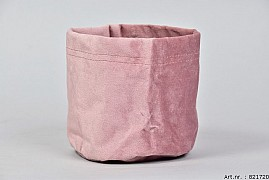 VELOURS PLANTBAG OLD PINK 14X15CM