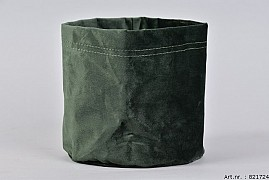 VELVET PLANTBAG DARK GREEN 17X18CM