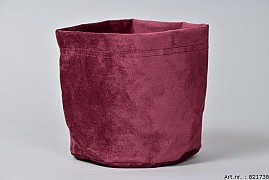 VELOURS PLANTBAG BORDEAUX 14X15CM