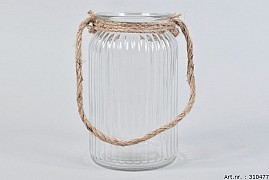 GLASS ROPE RIBBED 11X19CM