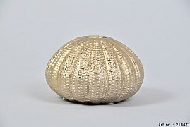 VASE SPHERE SHADED GOLD 12X8CM