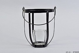 METAL HANGER + GLASS 17X20CM